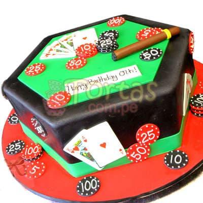 Torta Casino | Torta para Casino con habano - Whatsapp: 980-660044