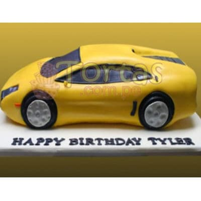 Torta en Forma de Auto | Torta Auto Carreras - Whatsapp: 980-660044