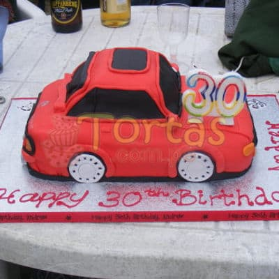 Torta Auto Rojo - Cod:WAU05