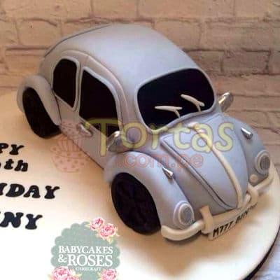 Torta volkswagen Vocho | Tortas con Autos | Tortas de Carros - Whatsapp: 980-660044