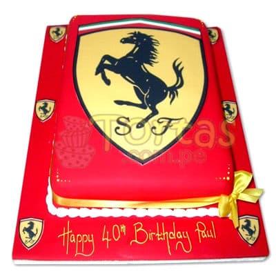 Torta Ferrari | Tortas con Autos | Tortas de Carros - Whatsapp: 980-660044