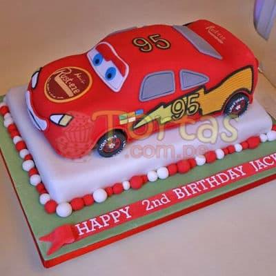 Torta Rayo McQueen | Tortas con Autos | Tortas de Carros - Whatsapp: 980-660044