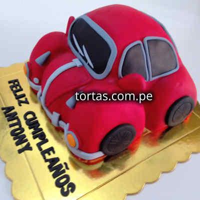 Torta Beatle | Torta Vochito | Torta  - Cod:WAU18