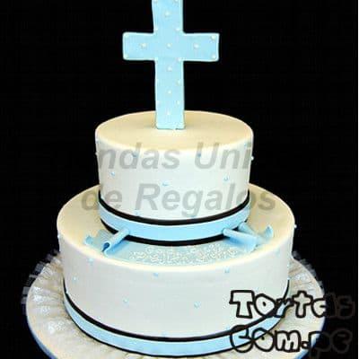 Tortas para bautizo | Torta Primera Comunión - Cod:WBC05