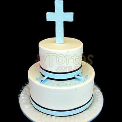 Torta Bautizo/Comunion 10 | Tortas de Bautizo | Torta bautizo - Cod:WBC10