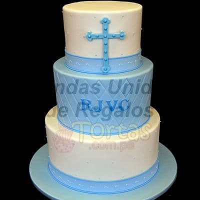 Torta Primera Comunión 11 | Tortas de Bautizo | Torta bautizo - Cod:WBC11