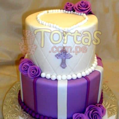 Torta Bautizo/Comunion Señorita | Tortas de Bautizo | Torta bautizo - Cod:WBC12