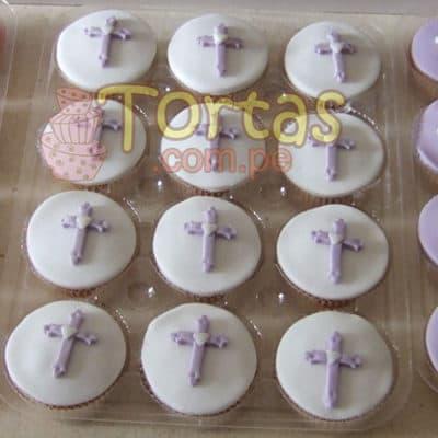 Tortas de Bautizo | Bautizo/Comunion Cupcakes 22 - Cod:WBC22