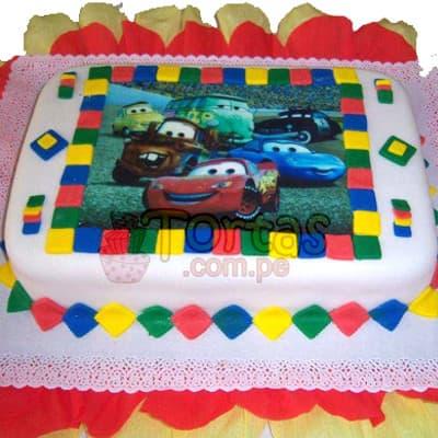 Torta Cars con FotoImpresion | Tortas de niños - Cod:WBE02