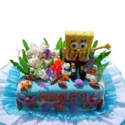 Torta de Bob Esponja | Tortas niños - Cod:WBE06