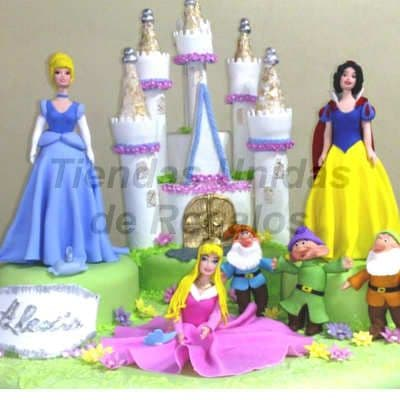 Torta Princesas Disney - Whatsapp: 980-660044