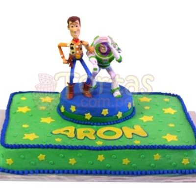 Torta Toy Story con Woddy y Buzz- Whatsapp: 980-660044
