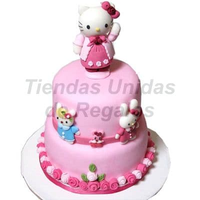 Torta Hello Kitty Modelada - Whatsapp: 980-660044