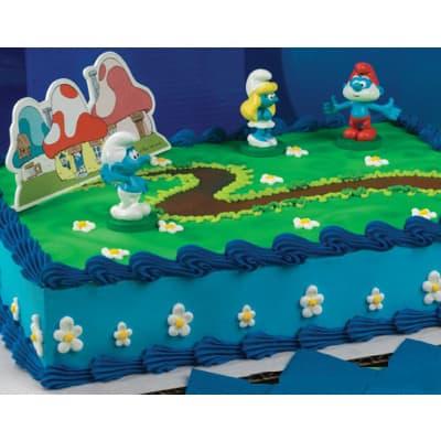 Torta Pitufos Modelada - Whatsapp: 980-660044