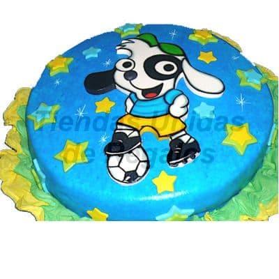 Torta Doki Futbolista | Delivery de de Tortas en Lima | Tortas a Peru - Cod:WBE22