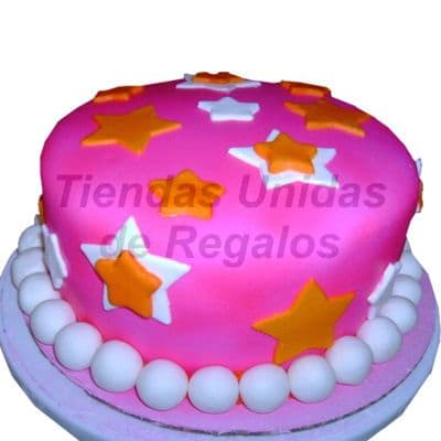 Torta con Estrellas para niña | Delivery de de Tortas en Lima | Tortas a Peru - Whatsapp: 980-660044