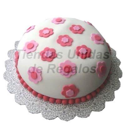 Torta con Flores para niña - Whatsapp: 980-660044