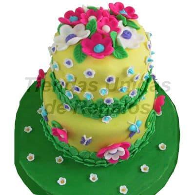 Torta para niña de 2 pisos | Delivery de de Tortas en Lima | Tortas a Peru - Cod:WBE31