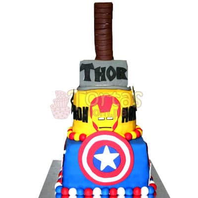 Torta Avengers con Martillo de Thor | Delivery de de Tortas en Lima | Tortas a Peru - Whatsapp: 980-660044