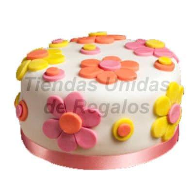 Torta Niña con Flores de azucar | Delivery de de Tortas en Lima | Tortas a Peru - Cod:WBE33