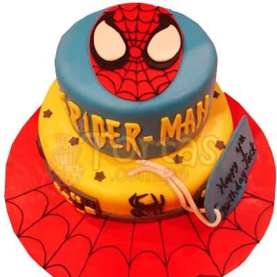 Torta Spider Man de dos pisos | Delivery de de Tortas en Lima | Tortas a Peru - Cod:WBE34
