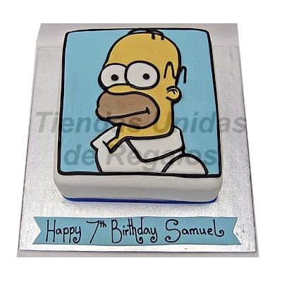 Torta de Homero Simpsons - Whatsapp: 980-660044