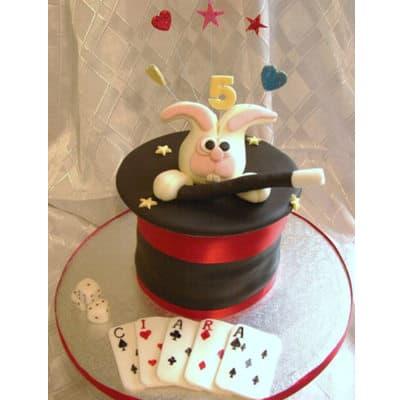 Torta Para Mago de Sombrero y conejo | Delivery de de Tortas en Lima | Tortas a Peru - Cod:WBE45