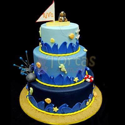 Torta para Niño Marino - Cod:WBE57