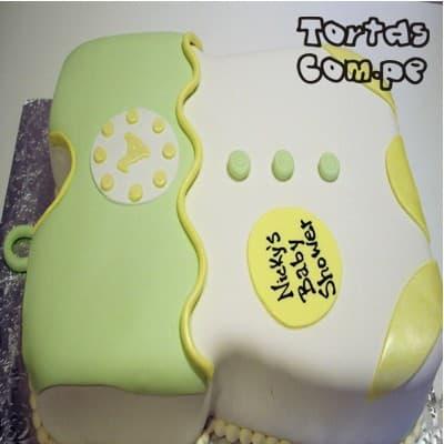 Torta Ropita de Bebe 01 | Tortas Baby Shower Niña | Tortas baby Shower Niño - Whatsapp: 980-660044