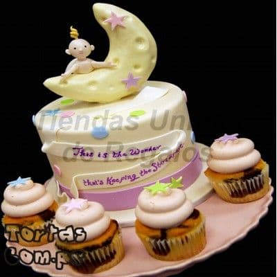 Media luna Bebe | Torta Media Luna Bebe 03 - Whatsapp: 980-660044