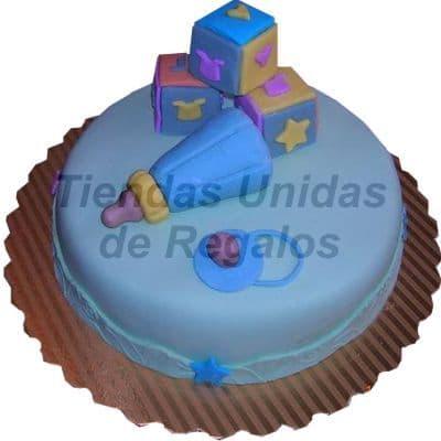 Torta Juguetes de bebe 05 | Tortas Baby Shower Niña | Tortas baby Shower Niño - Whatsapp: 980-660044