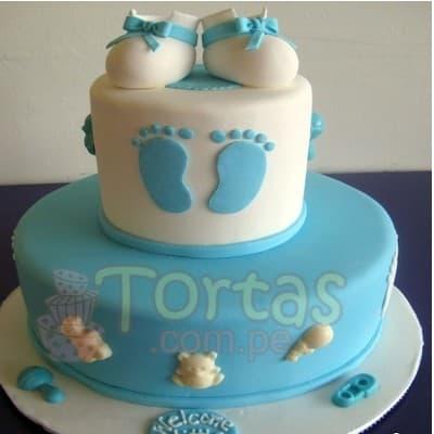Torta Baby Shower 10- Whatsapp: 980-660044