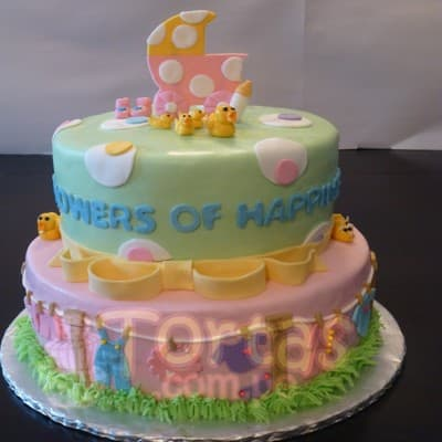 Torta Baby Shower 14- Whatsapp: 980-660044