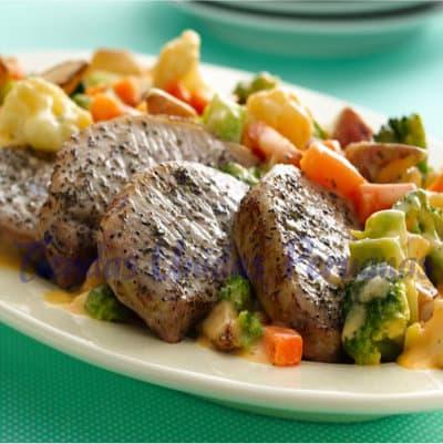 Chancho Delivery | Chancho Asado con verduras - Whatsapp: 980-660044