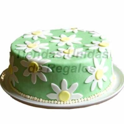 Torta Flores - Codigo:WDA03 - Detalles: Delicioso queque De Vainilla  , el decorado es a base de masa el�stica.Mide 20cm de diametro. - - Para mayores informes llamenos al Telf: 225-5120 o 4760-753.
