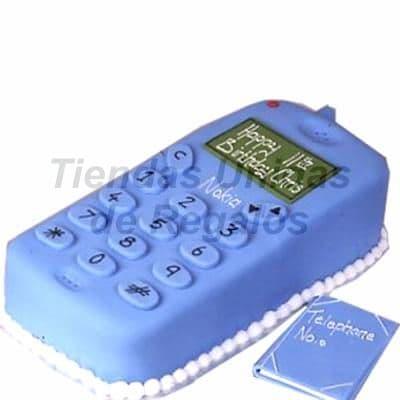 Torta Celular - Codigo:WDA04 - Detalles: Delicioso queque De Vainilla  , el decorado es a base de masa el�stica. Medidas aproximadas de 20 x  10 cmt. - - Para mayores informes llamenos al Telf: 225-5120 o 4760-753.