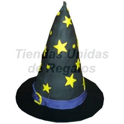Torta  Sombrero de Bruja - Codigo:WDA11 - Detalles: Delicioso queque De Vainilla  , decorado finamente en masa el�stica. 15cm de diametro. - - Para mayores informes llamenos al Telf: 225-5120 o 4760-753.