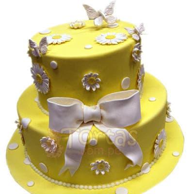 Torta Dama 21 - Codigo:WDA21 - Detalles: Deliciosas  torta  ,  decorado  finamente en masa el�stica,Med. 1 er nivel 25 cmt de diametro, 2do nivel 15 cmt de diametro. - - Para mayores informes llamenos al Telf: 225-5120 o 4760-753.