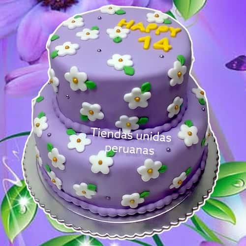Torta Dama 30 - Codigo:WDA30 - Detalles: Delicioso queque De Vainilla   y  decorado finamente con masa elastica.Medidas: 2 tortas de 20cm de diametro cada una, incluye brujitas modeladas en azucar.  - - Para mayores informes llamenos al Telf: 225-5120 o 4760-753.