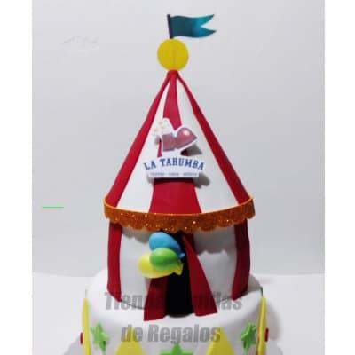 Torta Carpa de Circo | Torta cumpleaños mujer | Pasteles para Mujer - Cod:WDA31