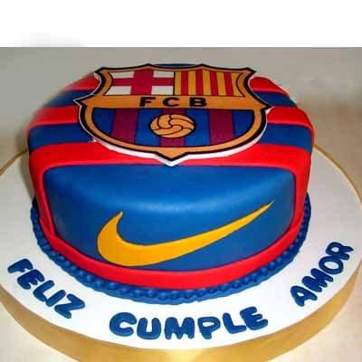 Torta Escudo Barcelona FC- Whatsapp: 980-660044