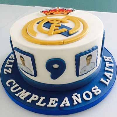 Torta Real Madrid con Pelota - Whatsapp: 980-660044