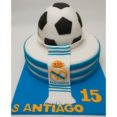 Torta Real Madrid Personalizada - Whatsapp: 980-660044