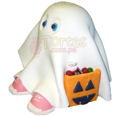 Halloween - CupCake de Fantasma - Cod:WHL07
