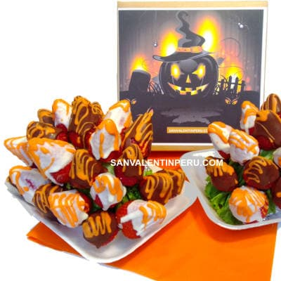 Halloween - Fresas y Chocolate - Cod:WHL09