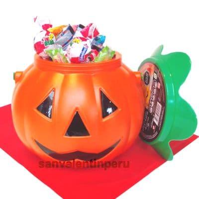 Cubo halloween con Dulces - Cod:WHL17