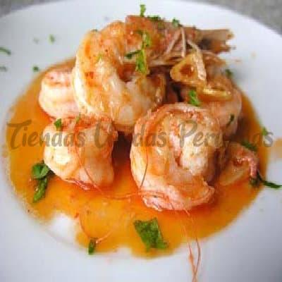 Langostinos con Verduras | Comida Chifa Ddelivery - Cod:WLG02
