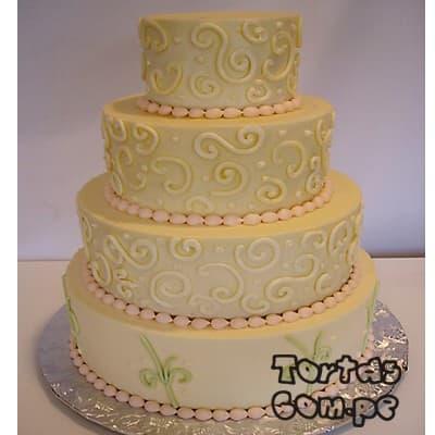 Grameco.com - Torta Matrimonio 02 - Codigo:WMA02 - Detalles: Elegante Torta hecho a base de queque De Vainilla   y, hecho finamente con masa el�stica y cuidadosamenete decorado,para esa fecha tan especial. Rinde aprox. para 115 a 120 porciones, este producto se realiza con 15 d�as de anticipaci�n. Cualquier modificaci�n que desee hacer es previa coordinaci�n. - - Para mayores informes llamenos al Telf: 225-5120 o 476-0753.