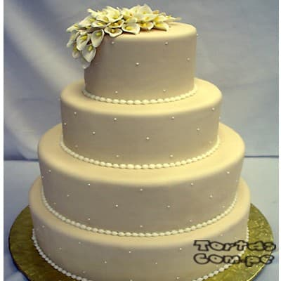 Grameco.com - Torta Matrimonio 04 - Codigo:WMA04 - Detalles: Elegante Torta hecho a base de queque De Vainilla   y , hecho finamente con masa el�stica y cuidadosamenete decorado,para esa fecha tan especial. Rinde aprox. para 115 a 120 porciones, este producto se realiza con 15 d�as de anticipaci�n. Cualquier modificaci�n que desee hacer es previa coordinaci�n. - - Para mayores informes llamenos al Telf: 225-5120 o 476-0753.