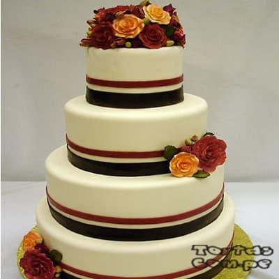 Torta Matrimonio 05 - Cod:WMA05